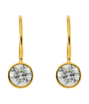 Boucles d'oreilles or massif 375 solitaire OS 130653