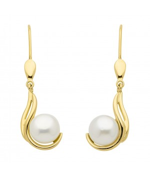 Boucles d'oreilles or massif 375 perle OS159456
