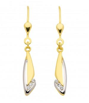 Boucles d'oreilles or massif 375 circoniums OS153335