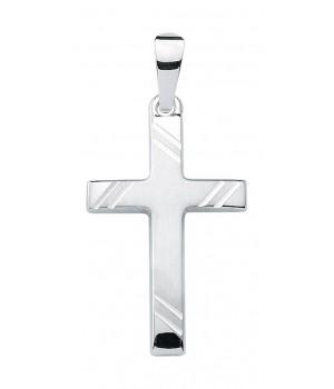 croix chrétienne en or blanc massif 375/1000 KR126635