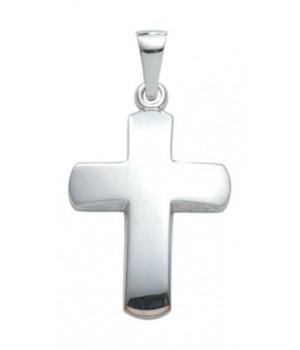 croix chrétienne en or blanc massif 375/1000 AN105922