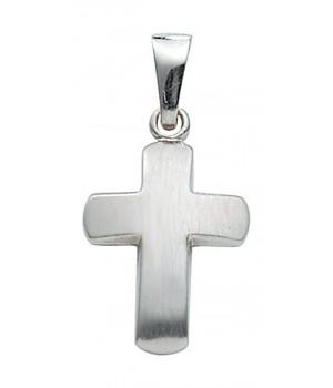 croix chrétienne en or blanc massif 375/1000 AN107931