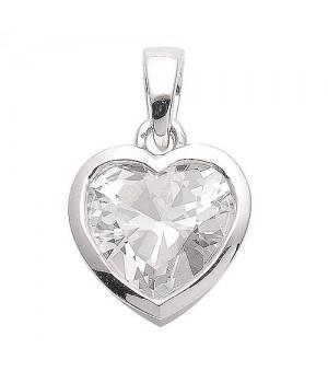 AN121121 Pendentif coeur argent 925 zirconium