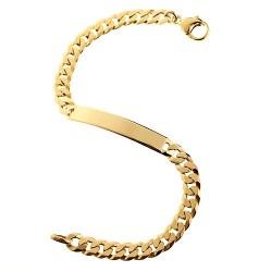 GB059 Gourmette bracelet en or massif 750/1000 19cm