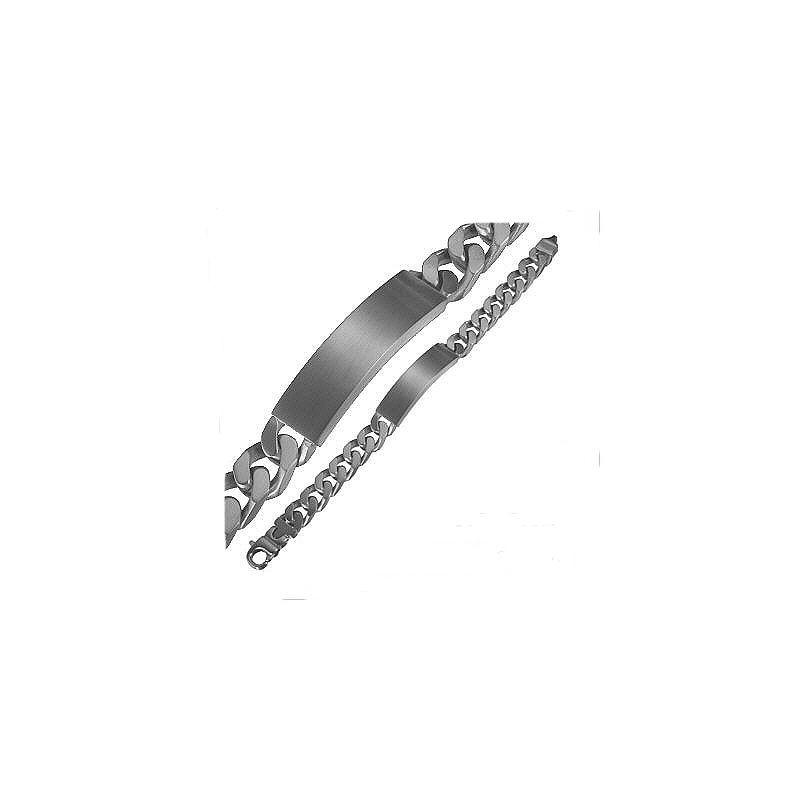 GB105 Gourmette en acier inox 21cm Maille gourmette 11mm