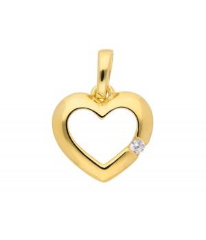 AA051 Pendentif coeur en or massif 375/1000