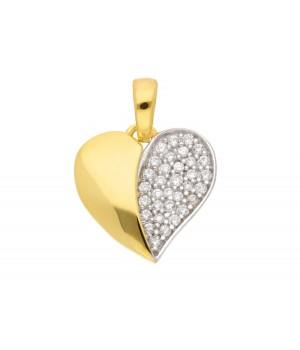 AA056 Pendentif coeur en or massif 375/1000