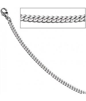Bracelet or blanc 750 maille forçat 19cm