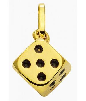 AA002 pendentif dé en or...