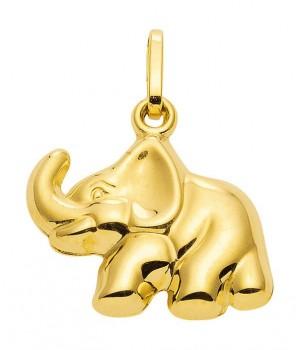 AA305 Pendentif éléphant en or massif 375/1000