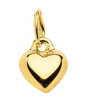 AA310 Pendentif coeur en or massif 375/1000
