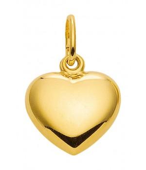 AA312 Pendentif coeur en or massif 375/1000