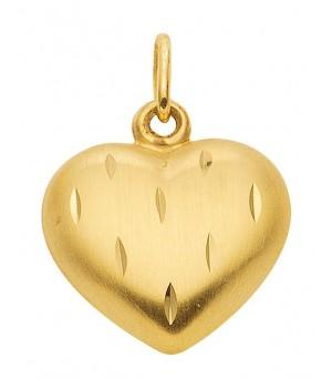 AA315 Pendentif coeur en or massif 375/1000