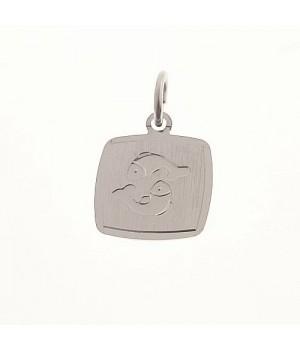 AOS061 Pendentif signe du zodiaque Poissons argent 925