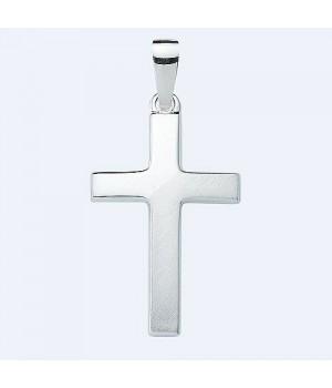 AOS095 Pendentif croix chrétienne en argent massif 925/1000