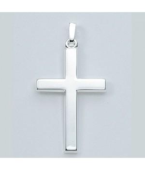 AOS096 Pendentif croix chrétienne en argent massif 925/1000