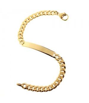 GB059 Gourmette bracelet en...