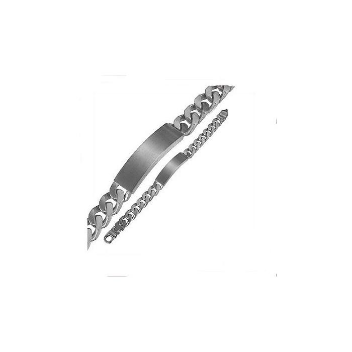 GB110 Gourmette en acier inox 21cm. Maille gourmette 8mm