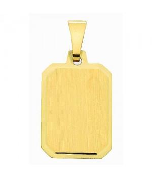 AA018 Pendentif plaque à graver en or massif 585/1000