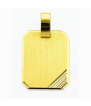AA019 Pendentif plaque à graver en or massif 585/1000