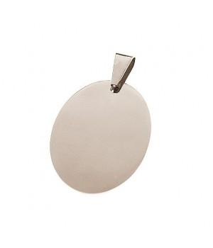 AS016 Magnifique pendentif en acier oval gravure gratuite