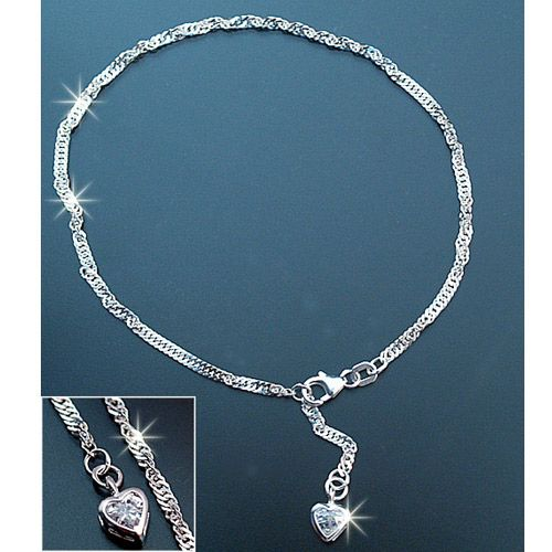 bracelet cheville argent 925