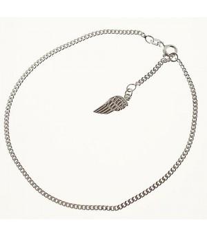 FK020 chaine de cheville avec aile d'ange argent 925 25cm
