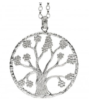 Pendentif arbre de vie Julie Julsen argent massif 47mm