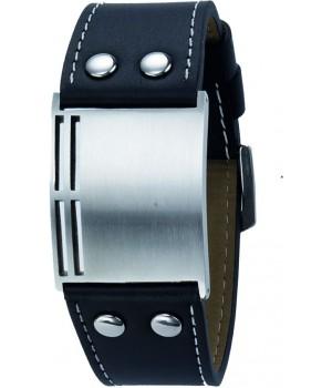 Bracelet homme en cuir et acier Leo Marco gravure gratuite LM902
