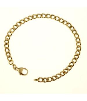 Bracelet or massif 750 maille forçat 19cm
