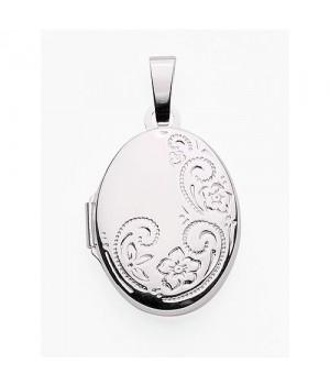 AOS133 Medaillon pendentif porte photo cassolette gravure gratuite