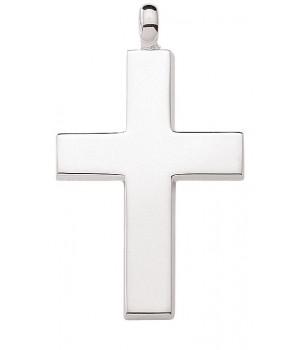 AOS187 Pendentif croix chrétienne en argent massif 925/1000