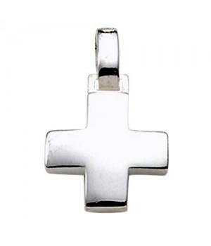 AOS188 Pendentif croix chrétienne en argent massif 925/1000