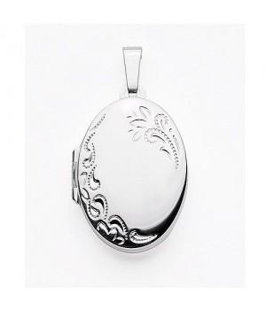 AOS134 Medaillon pendentif porte photo cassolette gravure gratuite