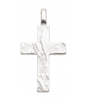 AOS195 Pendentif croix chrétienne en argent massif 925/1000