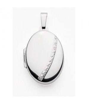 AOS135 Medaillon pendentif porte photo cassolette gravure gratuite