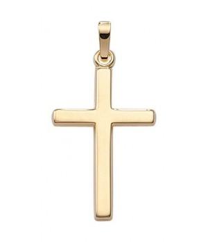 AA132 croix chrétienne en or massif 375/1000