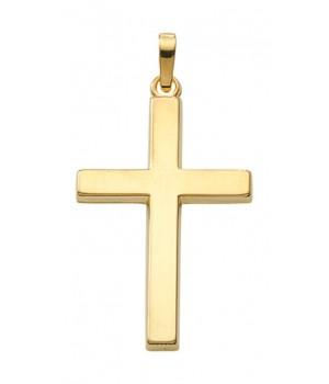 AA133 croix chrétienne en or massif 375/1000