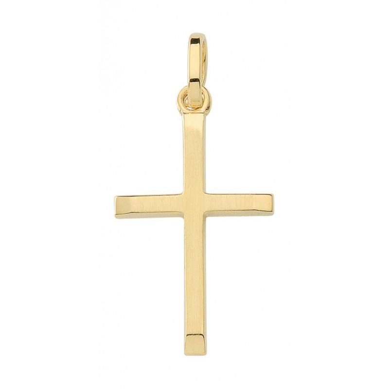 AA134 croix chrétienne en or massif 375/1000