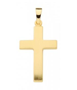 AA136 croix chrétienne en or massif 375/1000