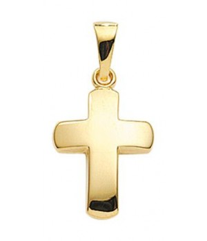 AA137 croix chrétienne en or massif 375/1000