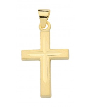 AA139 croix chrétienne en or massif 375/1000