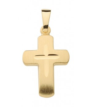 AA140 croix chrétienne en or massif 375/1000