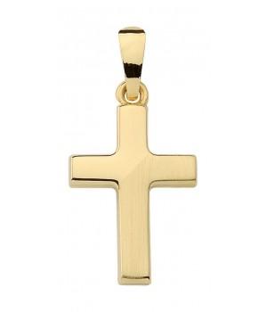 AA142 croix chrétienne en or massif 375/1000