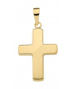 AA143 croix chrétienne en or massif 375/1000