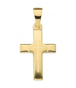 AA144 croix chrétienne en or massif 375/1000