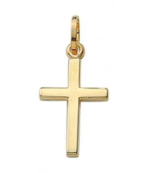 AA130 croix chrétienne en or massif 375/1000