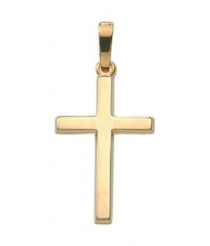AA131 croix chrétienne en or massif 375/1000