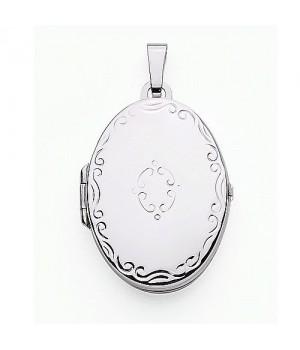 AOS139 Medaillon pendentif porte photo cassolette gravure gratuite
