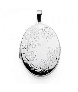 AOS140 Medaillon pendentif porte photo cassolette gravure gratuite